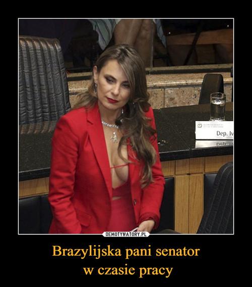 Brazylijska pani senator  w czasie pracy
