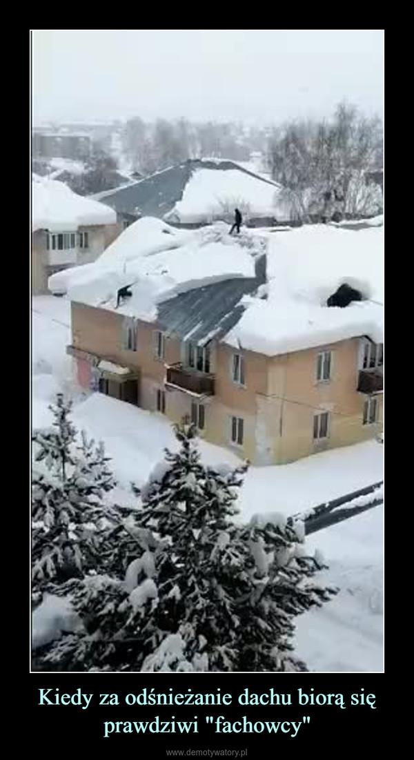 """Kiedy za odśnieżanie dachu biorą się prawdziwi """"fachowcy"""" –"""