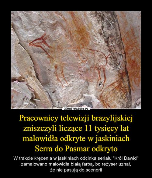 Pracownicy telewizji brazylijskiej zniszczyli liczące 11 tysięcy lat malowidła odkryte w jaskiniach Serra do Pasmar odkryto