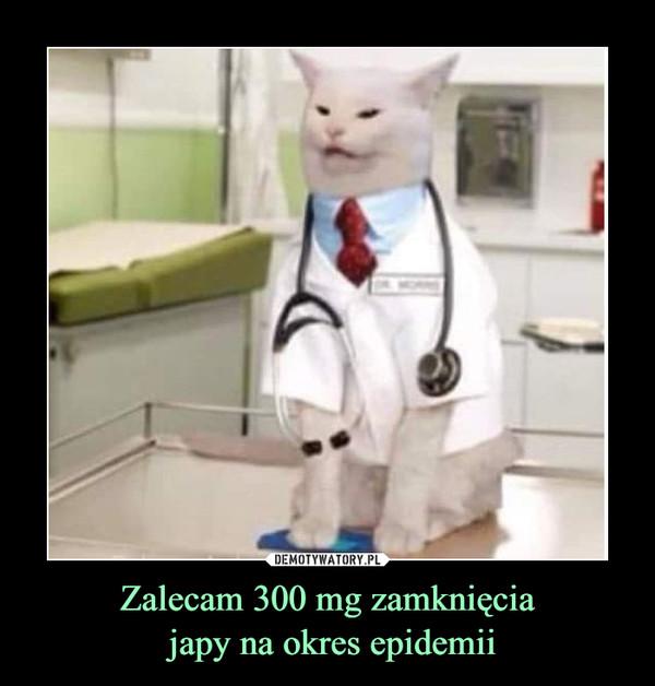 Zalecam 300 mg zamknięcia japy na okres epidemii –