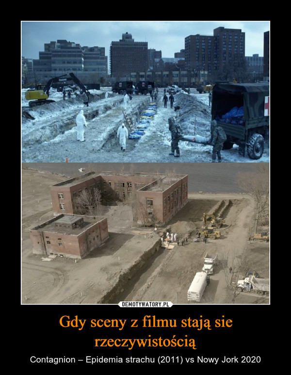 Gdy sceny z filmu stają sie rzeczywistością – Contagnion – Epidemia strachu (2011) vs Nowy Jork 2020