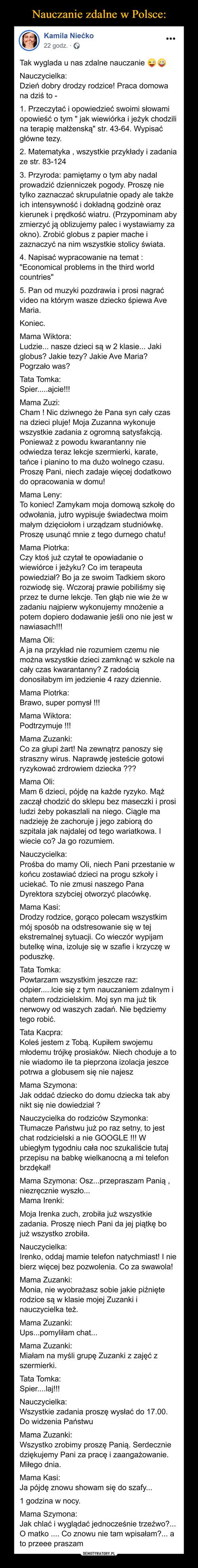 Nauczanie zdalne w Polsce: