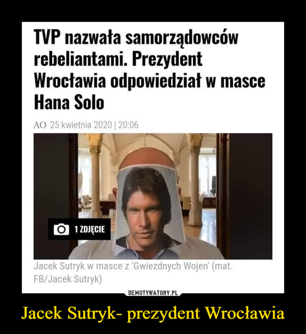 Jacek Sutryk- prezydent Wrocławia –