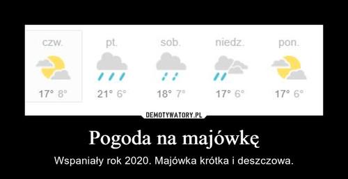 Pogoda na majówkę