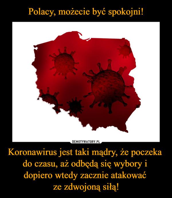 Koronawirus jest taki mądry, że poczeka do czasu, aż odbędą się wybory i dopiero wtedy zacznie atakować ze zdwojoną siłą! –