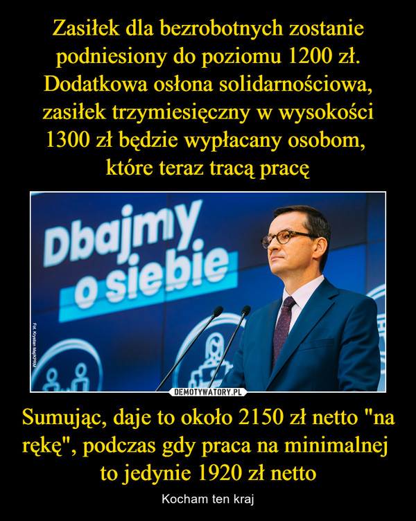"""Sumując, daje to około 2150 zł netto """"na rękę"""", podczas gdy praca na minimalnej to jedynie 1920 zł netto – Kocham ten kraj"""