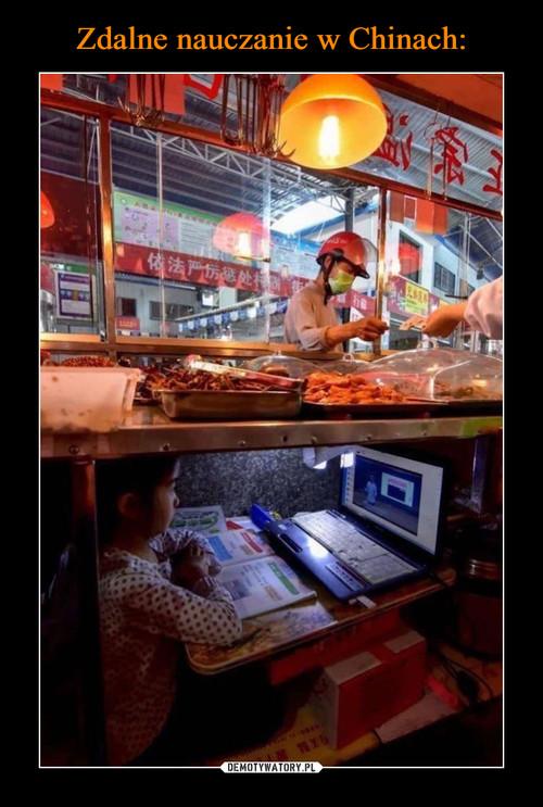 Zdalne nauczanie w Chinach: