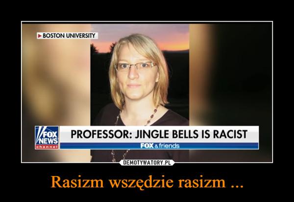 Rasizm wszędzie rasizm ... –