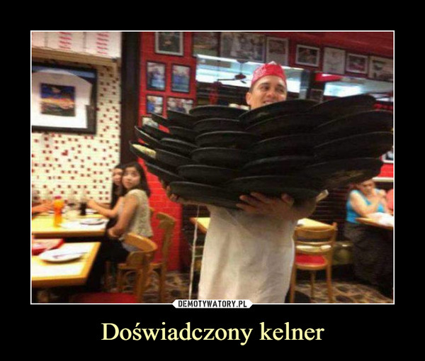 Doświadczony kelner –