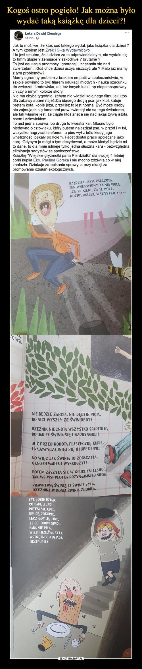 Kogoś ostro pogięło! Jak można było wydać taką książkę dla dzieci?!