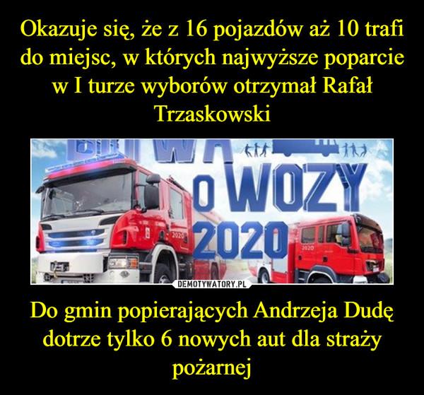 Do gmin popierających Andrzeja Dudę dotrze tylko 6 nowych aut dla straży pożarnej –  Bitwa o wozy 2020