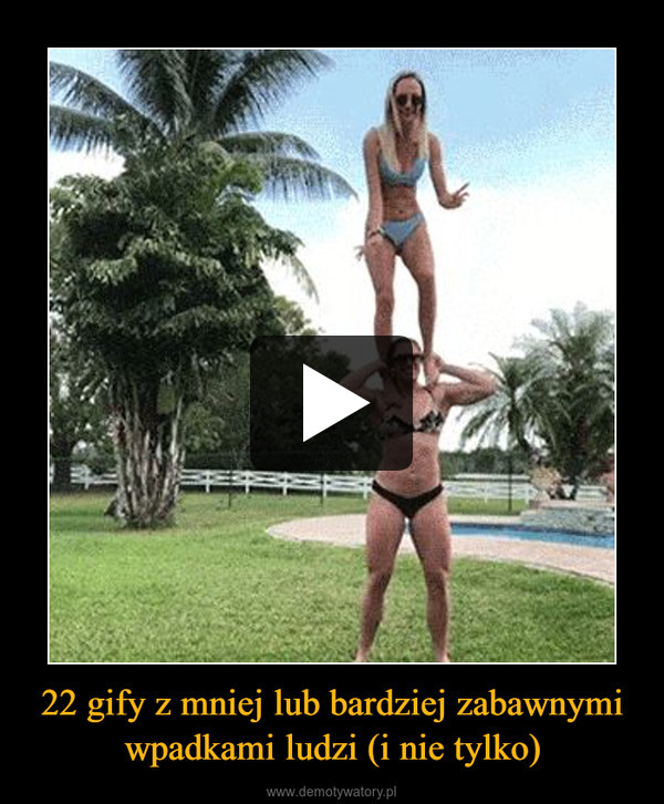 22 gify z mniej lub bardziej zabawnymi wpadkami ludzi (i nie tylko) –