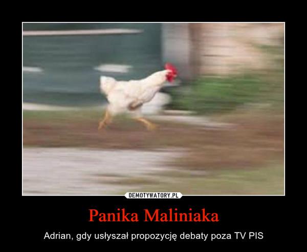 Panika Maliniaka – Adrian, gdy usłyszał propozycję debaty poza TV PIS