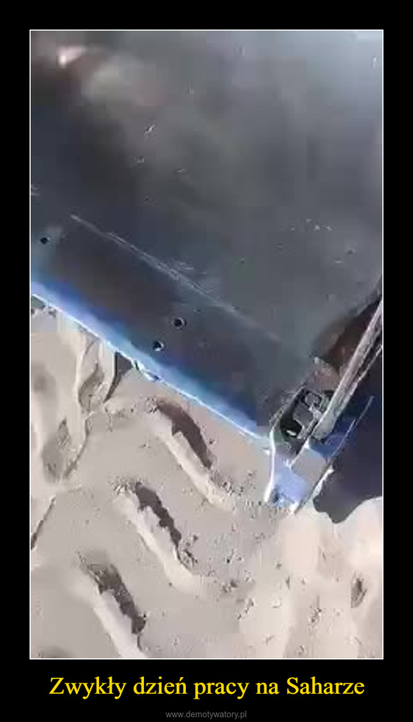 Zwykły dzień pracy na Saharze –