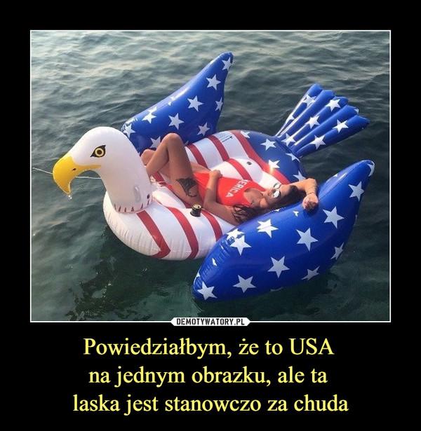 Powiedziałbym, że to USA na jednym obrazku, ale ta laska jest stanowczo za chuda –