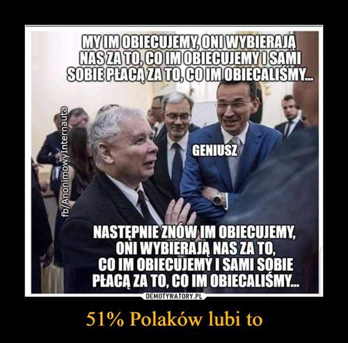 51% Polaków lubi to