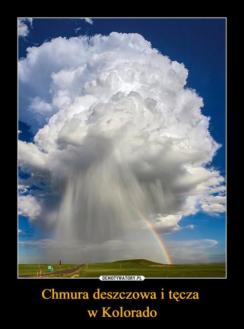 Chmura deszczowa i tęcza  w Kolorado