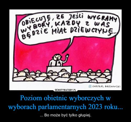 Poziom obietnic wyborczych w wyborach parlamentarnych 2023 roku...