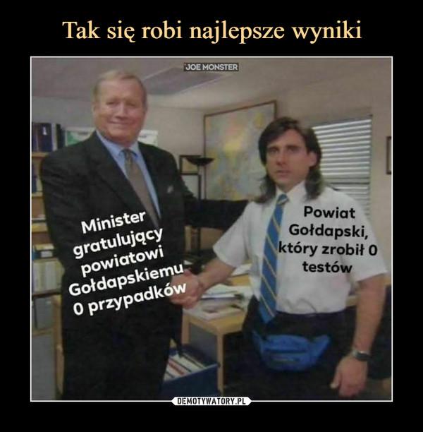 –  MinistergratulującypowiatowiGołdapskiemu0 przypadkówPowiatGołdapski,ktory zrobił 0    testów