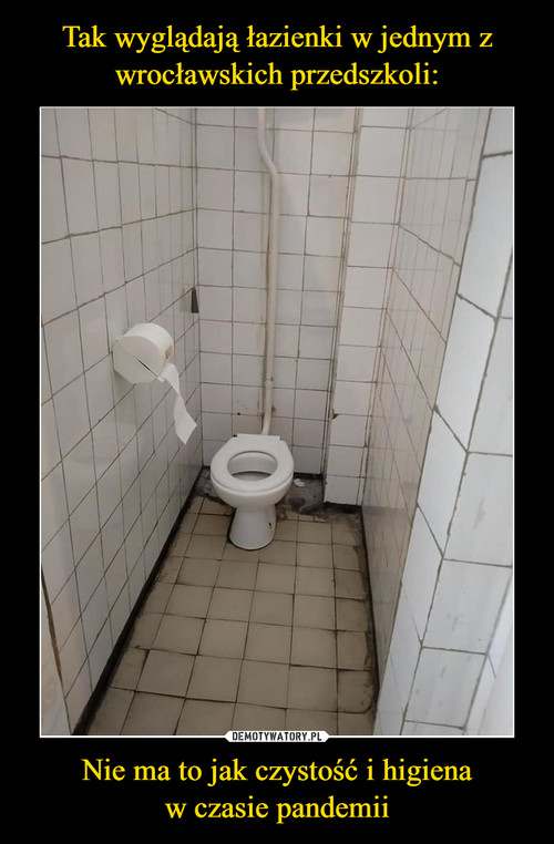 Tak wyglądają łazienki w jednym z wrocławskich przedszkoli: Nie ma to jak czystość i higiena w czasie pandemii
