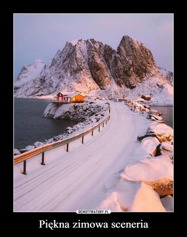Piękna zimowa sceneria –
