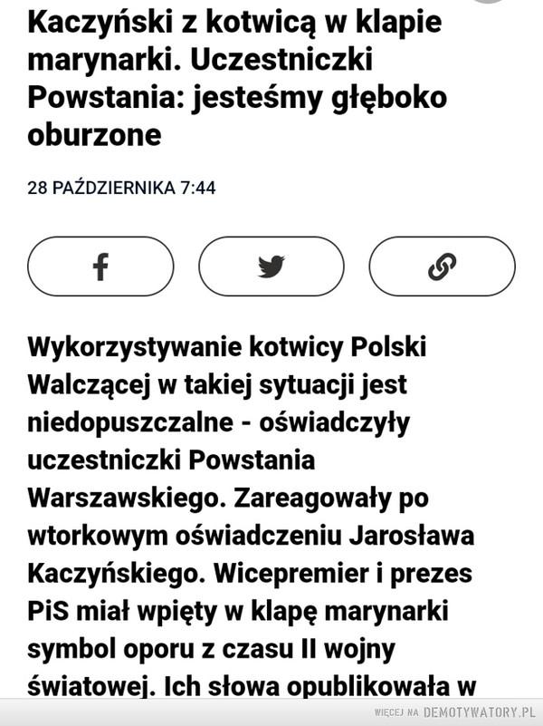KACZYŃSKI SIĘ NAWET BOGA NIE BOI – myśli że sam jest nim dla Polaków