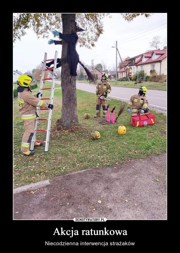 Akcja ratunkowa – Niecodzienna interwencja strażaków