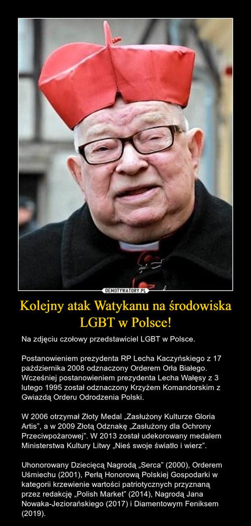 Kolejny atak Watykanu na środowiska LGBT w Polsce!