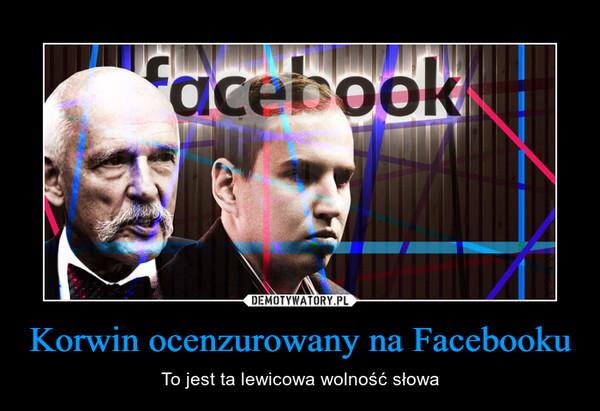 Korwin ocenzurowany na Facebooku – To jest ta lewicowa wolność słowa