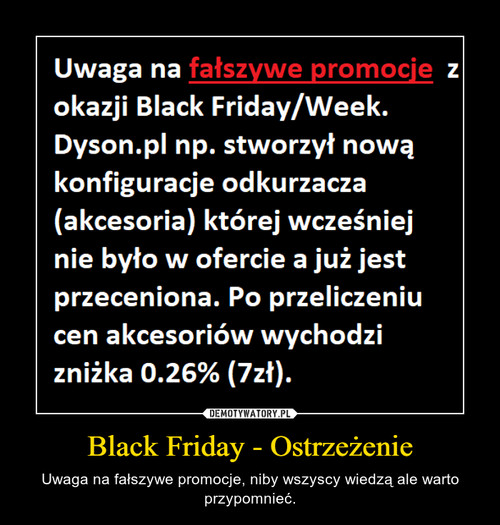 Black Friday - Ostrzeżenie