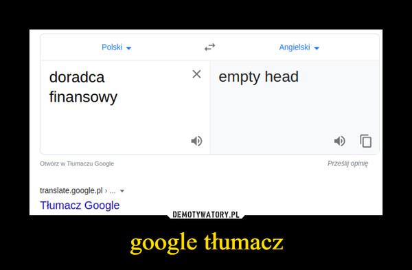 google tłumacz –