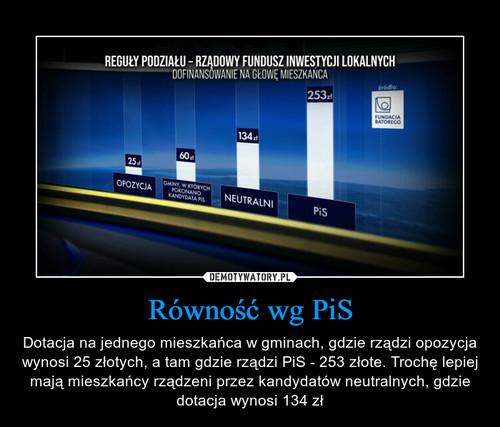 Równość wg PiS