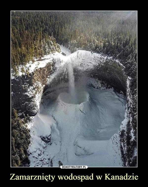 Zamarznięty wodospad w Kanadzie –