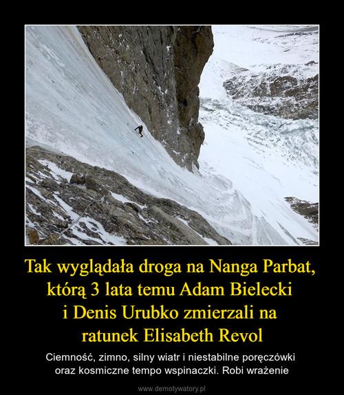Tak wyglądała droga na Nanga Parbat,  którą 3 lata temu Adam Bielecki  i Denis Urubko zmierzali na  ratunek Elisabeth Revol