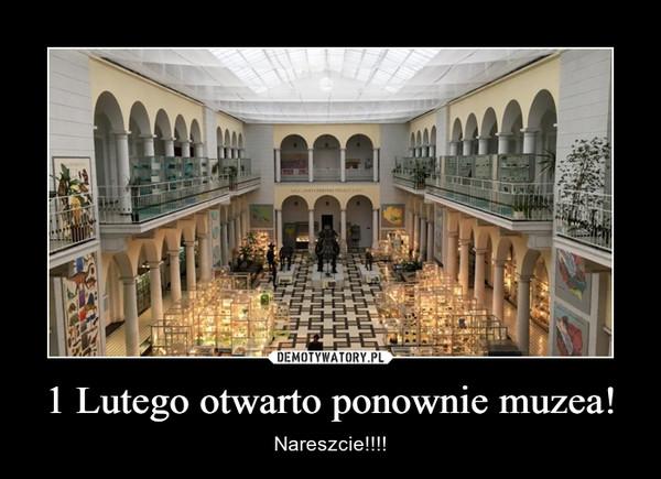 1 Lutego otwarto ponownie muzea! – Nareszcie!!!!