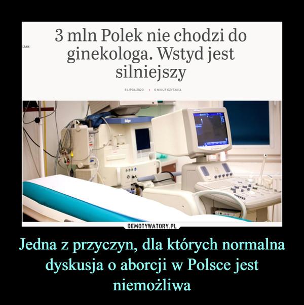 Jedna z przyczyn, dla których normalna dyskusja o aborcji w Polsce jest niemożliwa –