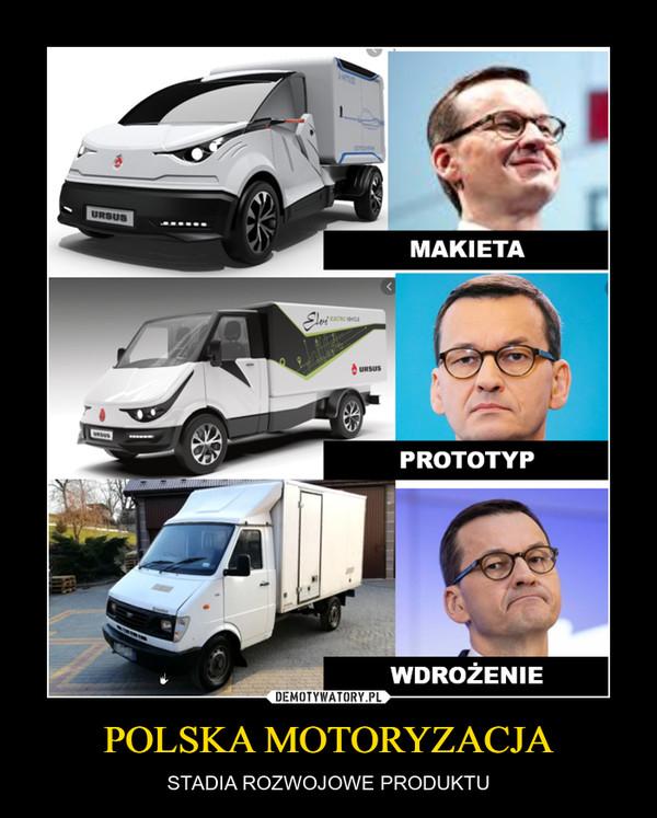 POLSKA MOTORYZACJA – STADIA ROZWOJOWE PRODUKTU