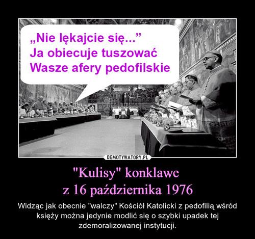 """""""Kulisy"""" konklawe  z 16 października 1976"""