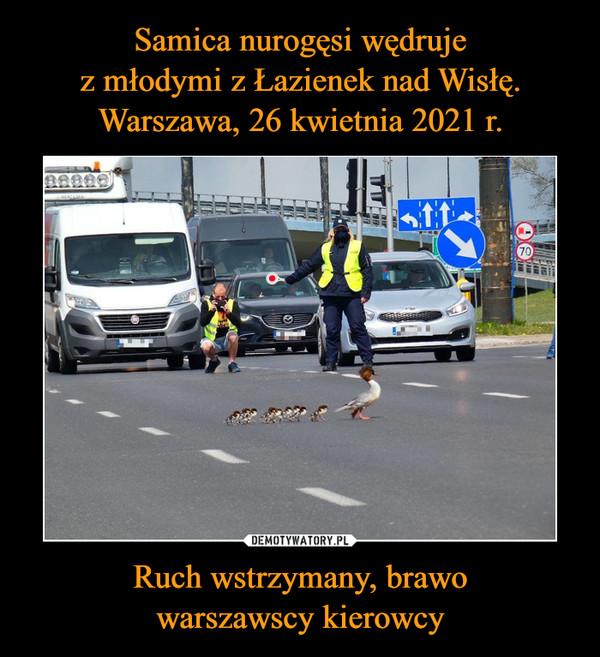 Ruch wstrzymany, brawowarszawscy kierowcy –