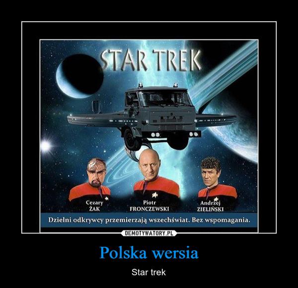 Polska wersia – Star trek