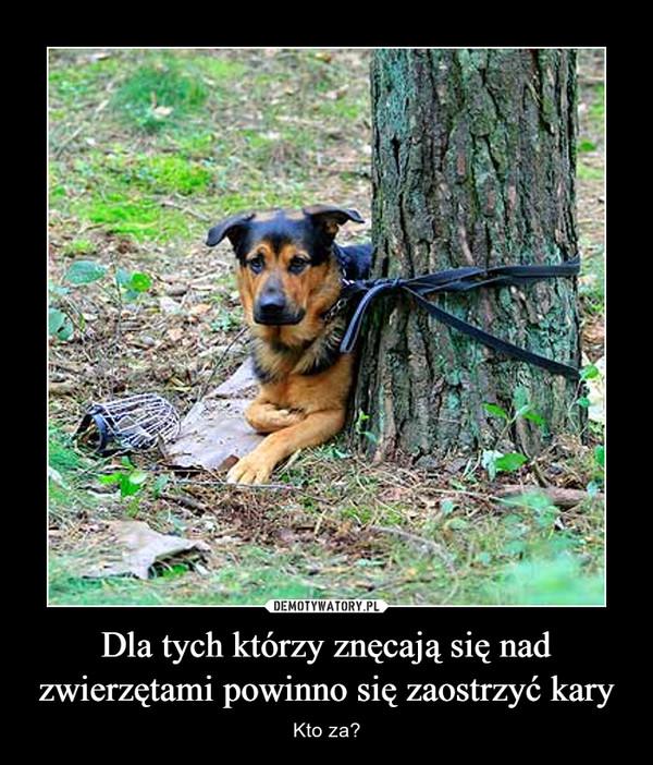 Dla tych którzy znęcają się nad zwierzętami powinno się zaostrzyć kary