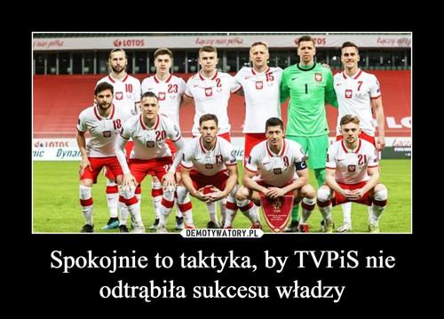Spokojnie to taktyka, by TVPiS nie odtrąbiła sukcesu władzy