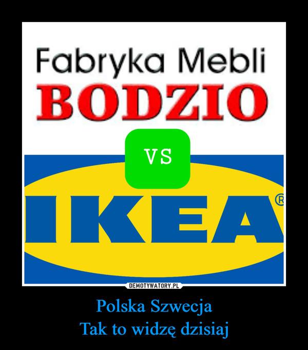 Polska SzwecjaTak to widzę dzisiaj –