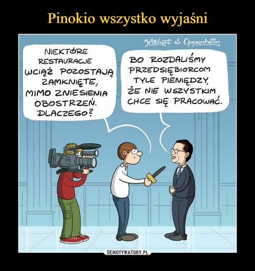 Pinokio wszystko wyjaśni