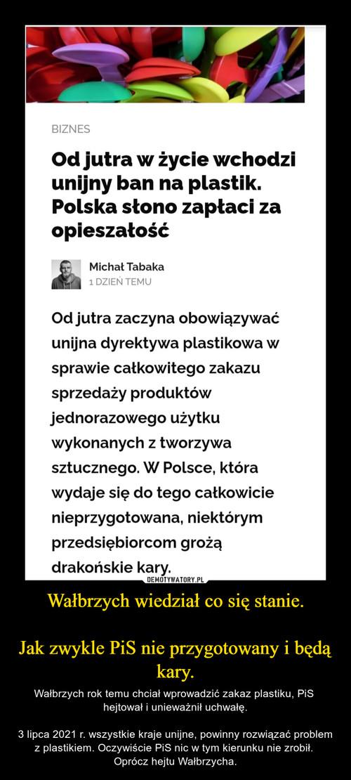 Wałbrzych wiedział co się stanie.  Jak zwykle PiS nie przygotowany i będą kary.