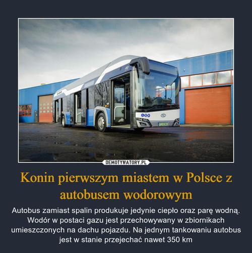Konin pierwszym miastem w Polsce z autobusem wodorowym