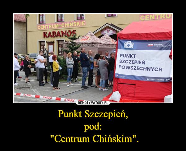 """Punkt Szczepień, pod:  """"Centrum Chińskim""""."""