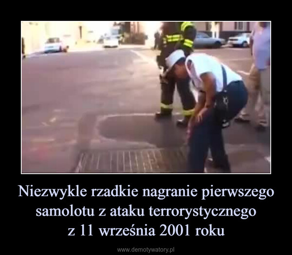 Niezwykle rzadkie nagranie pierwszego samolotu z ataku terrorystycznegoz 11 września 2001 roku –