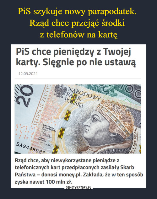 PiS szykuje nowy parapodatek.  Rząd chce przejąć środki  z telefonów na kartę