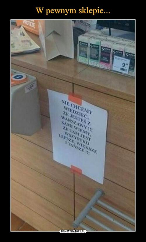 W pewnym sklepie...